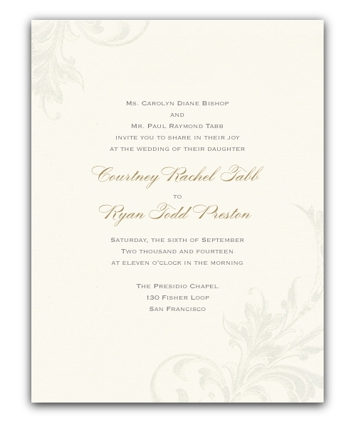 wedding invitations ireland & wedding stationery - florentine ecru, Wedding invitations