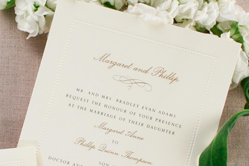 Wedding Invitations Ireland & Wedding Stationery - Classic Ecru ...