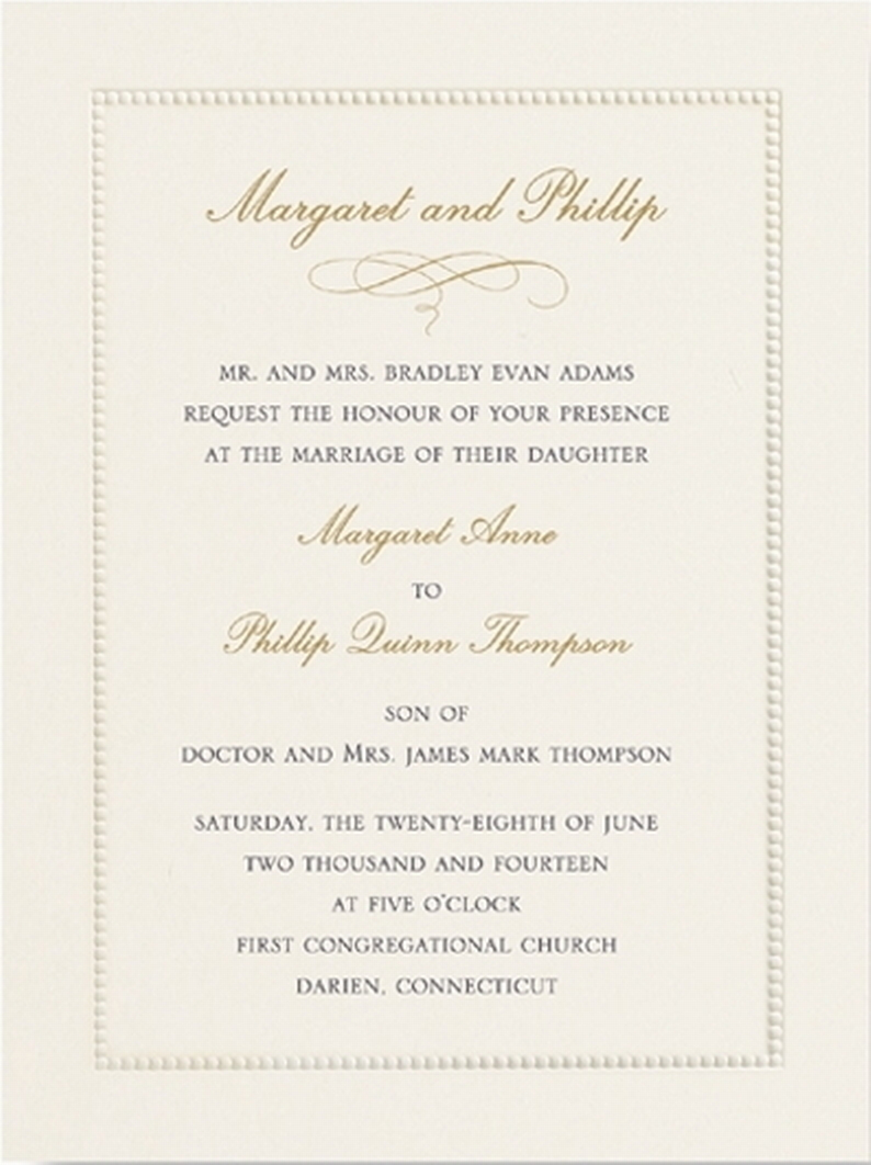 Wedding Invitations Ireland & Wedding Stationery - Classic Ecru ...