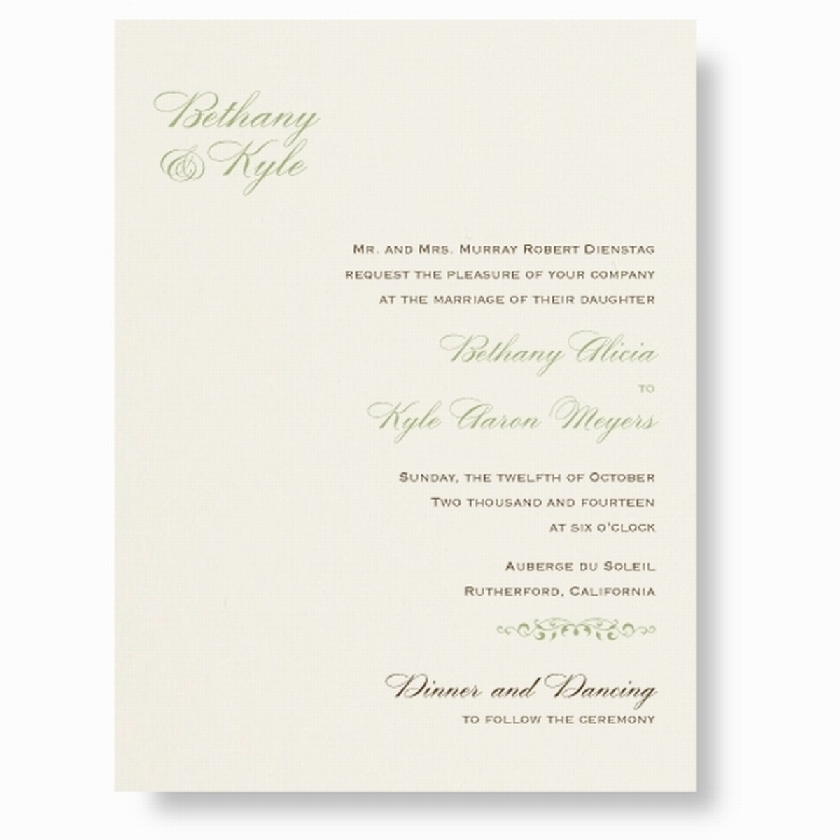 Wedding Invitations Ireland & Wedding Stationery - Thermography Opal ...